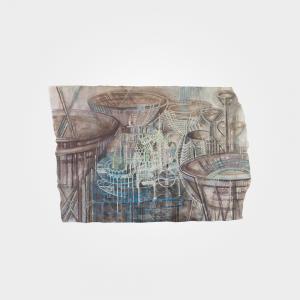 Now the future of the floating cities part I mariska mallee kunst art schilderij